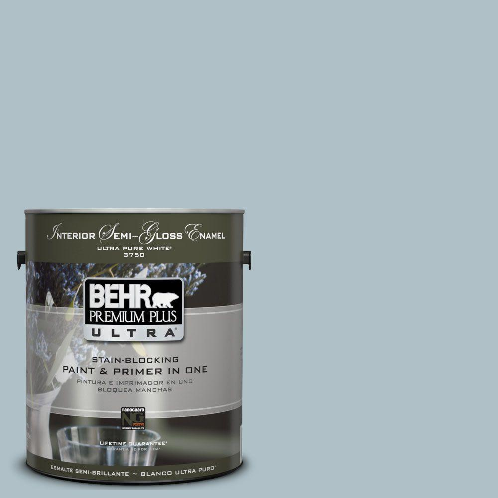 1 gal. #UL220-7 Ozone Semi-Gloss Enamel Interior Paint and Primer in