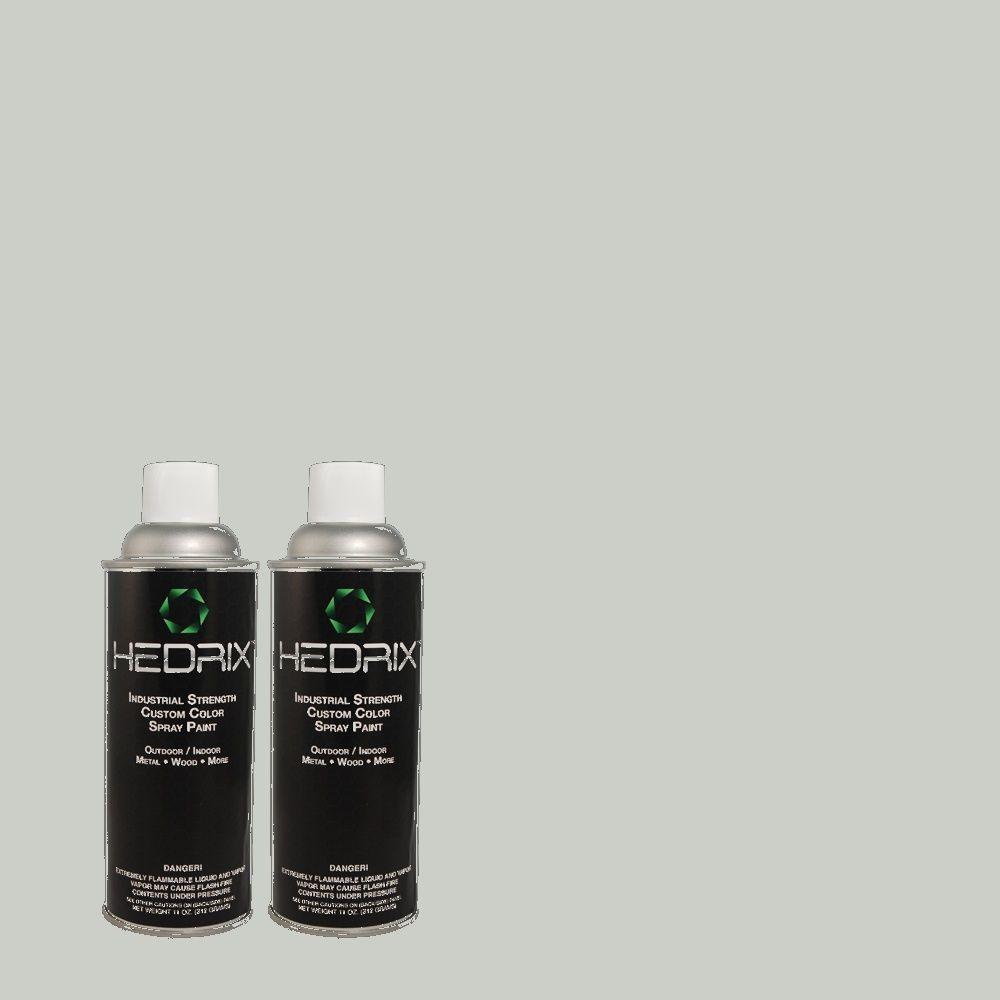 Hedrix 11 oz. Match of 730E-3 River Rock Semi-Gloss Custom Spray Paint (2-Pack)