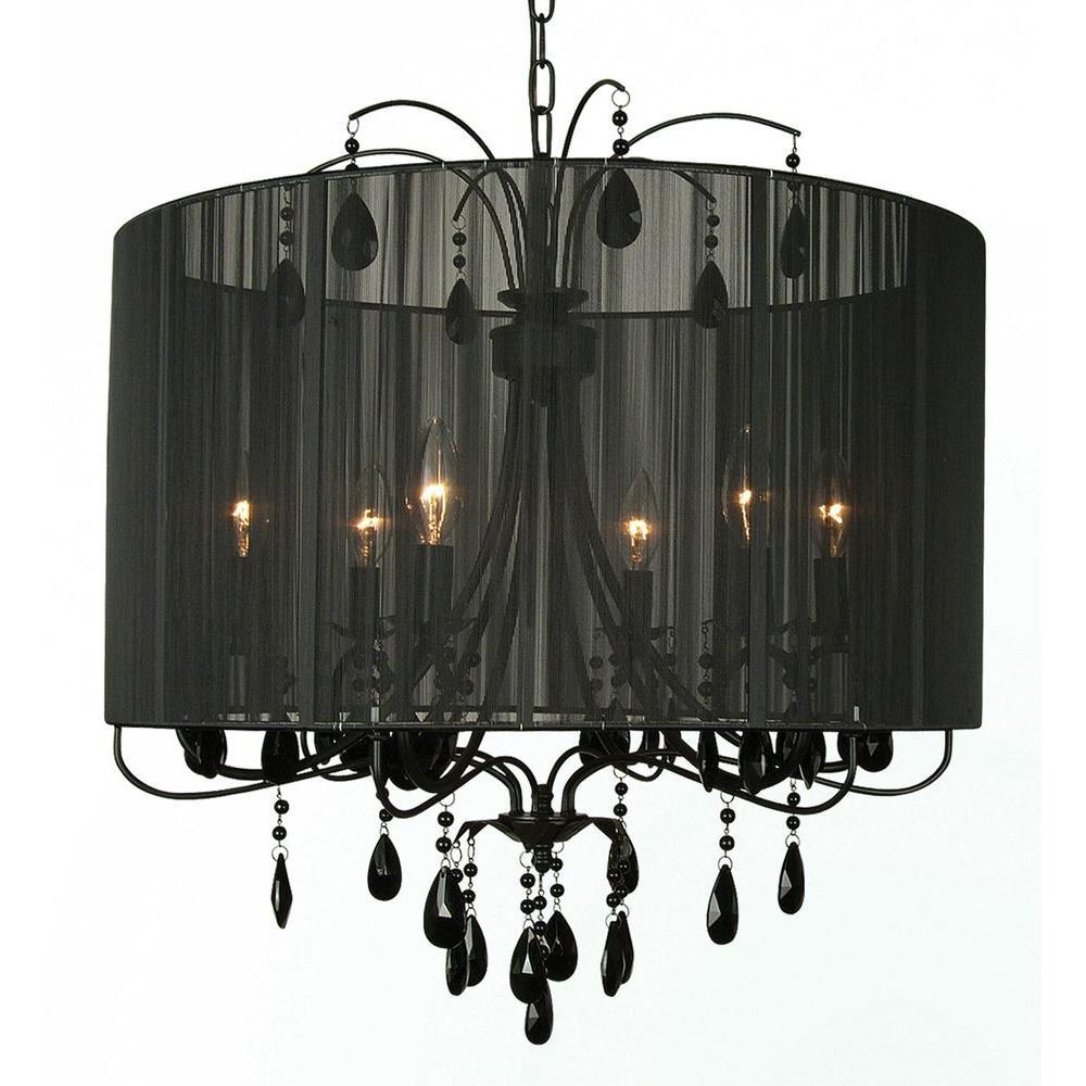 Filament Design Xavier 6-Light Black Chandelier
