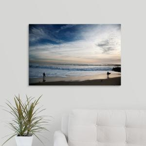30 In X 20 In Surfers And Clouds By Scott Stulberg Canvas Wall Art