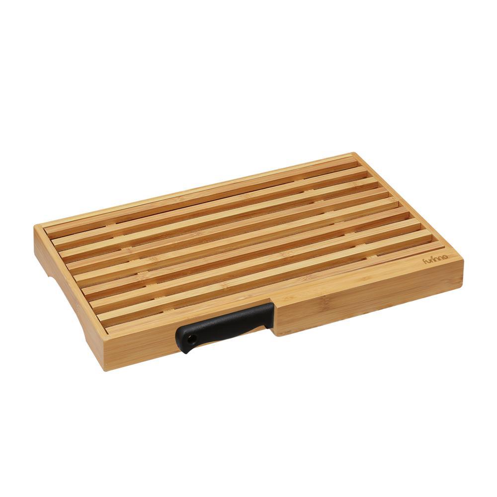 Furinno DaPur Bamboo Bread Cutting Board FK8654 - The Home Depot