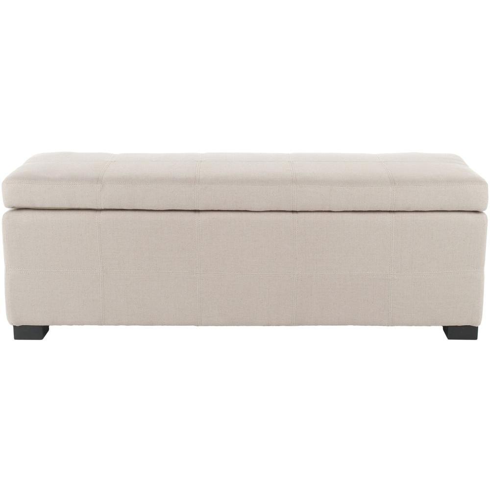 Safavieh Madison Taupe Storage Bench
