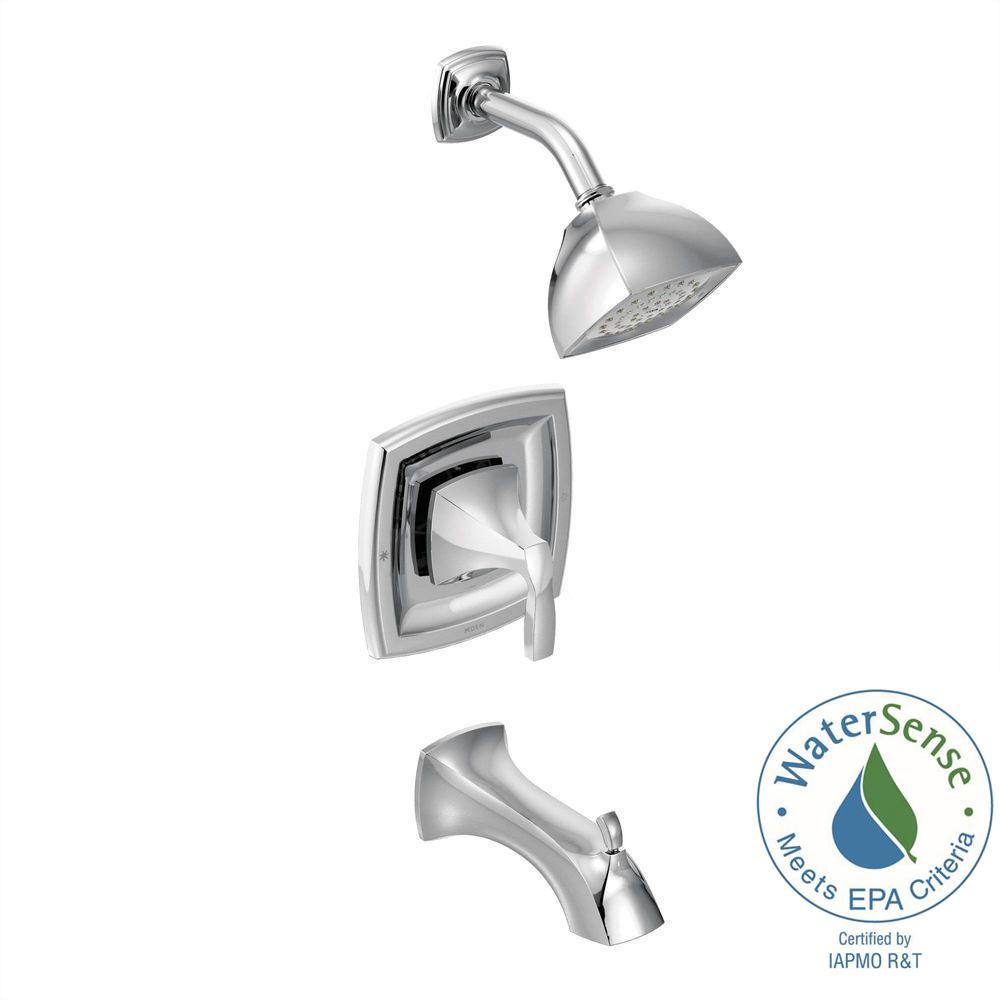 Voss Posi-Temp 1-Handle Tub and Shower Trim Kit in Chrome (Valve
