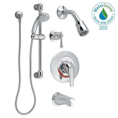 Commercial 36 in. Shower System with Hand Shower and Colony Soft Valve Only Trim in Polished Chrome (Valve Included)
