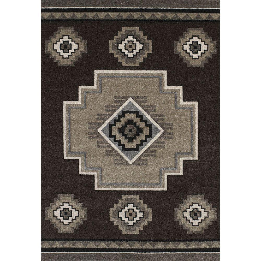 United Weavers Mountain Brown 7 ft. 10 in. x 11 ft. 2 in. Area Rug