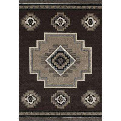 Mountain Brown 7 ft. 10 in. x 11 ft. 2 in. Area Rug