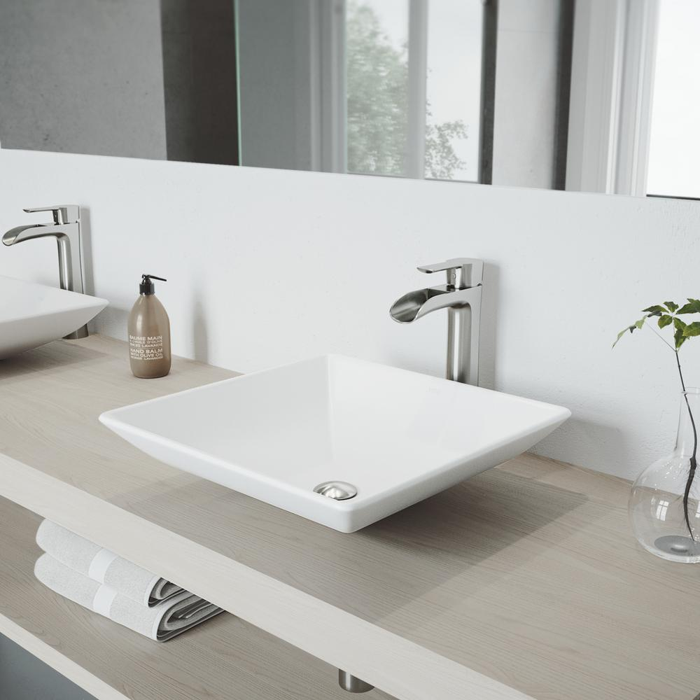Nice VIGO Hibiscus Matte Stone Vessel Sink And Brushed Nickel Niko Faucet Set  With Pop Up