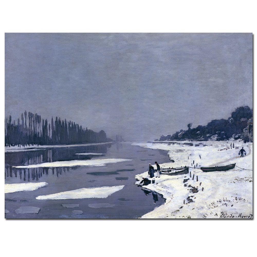 Trademark Fine Art 18 in. x 24 in. Ice on Seine at Bougival, 1867-8 Canvas Art