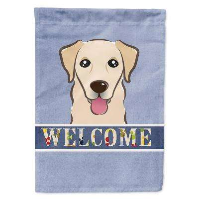 11 in. x 15-1/2 in. Polyester Golden Retriever Welcome 2-Sided 2-Ply Garden Flag