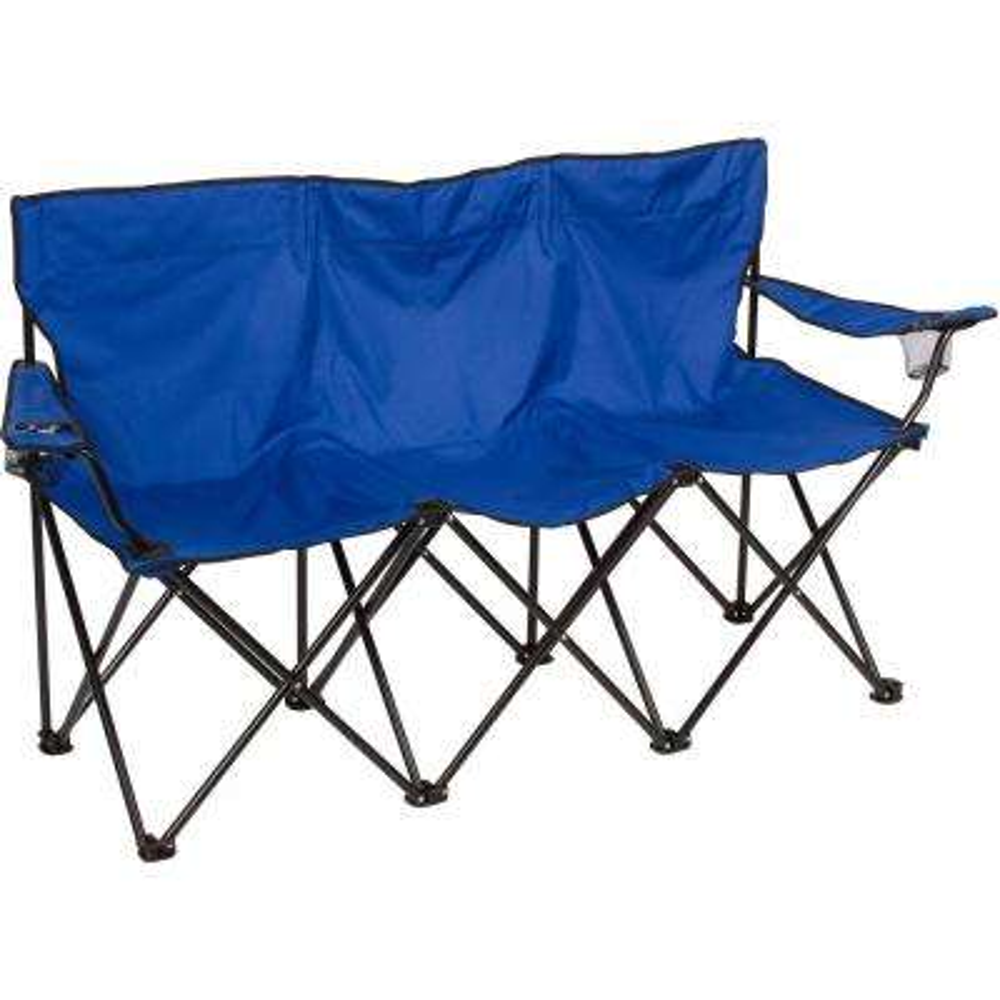 Triple Style Blue Steel Frame Tri Camp Chair
