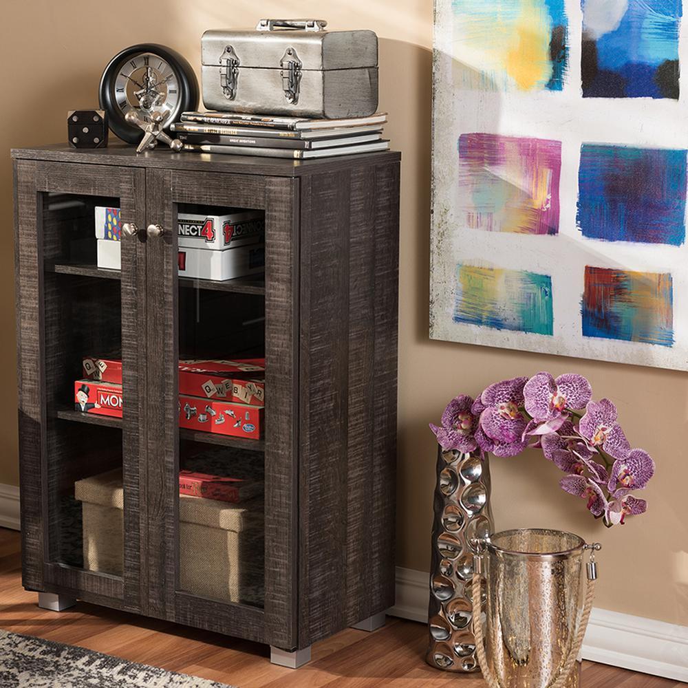 Baxton Studio Nason Dark Brown Storage Cabinet 28862-6496-HD