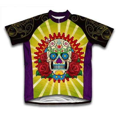 Unisex Extra Large Multi-Colored Catrina Microfiber Short-Sleeved Cycling Jersey