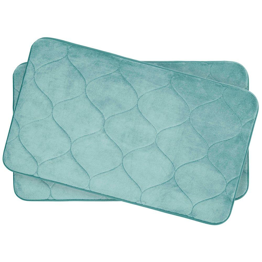 BounceComfort Palace Aqua 17 In. X 24 In. Memory Foam Bath