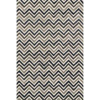 Weston Lifestyle Collection Ivory/Grey 3 ft. 6 in. x 5 ft. 6 in. Area Rug
