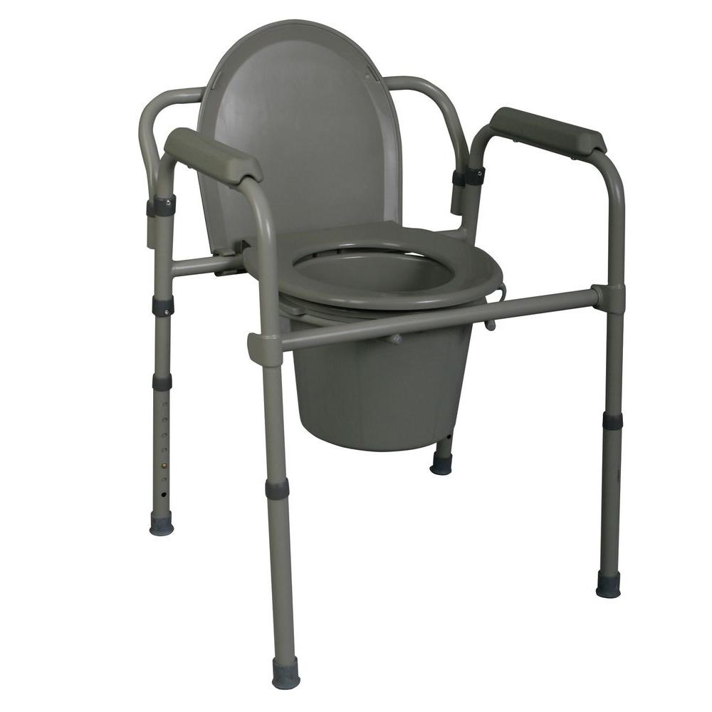 1-Piece 1 GPF Round Commode in Steel