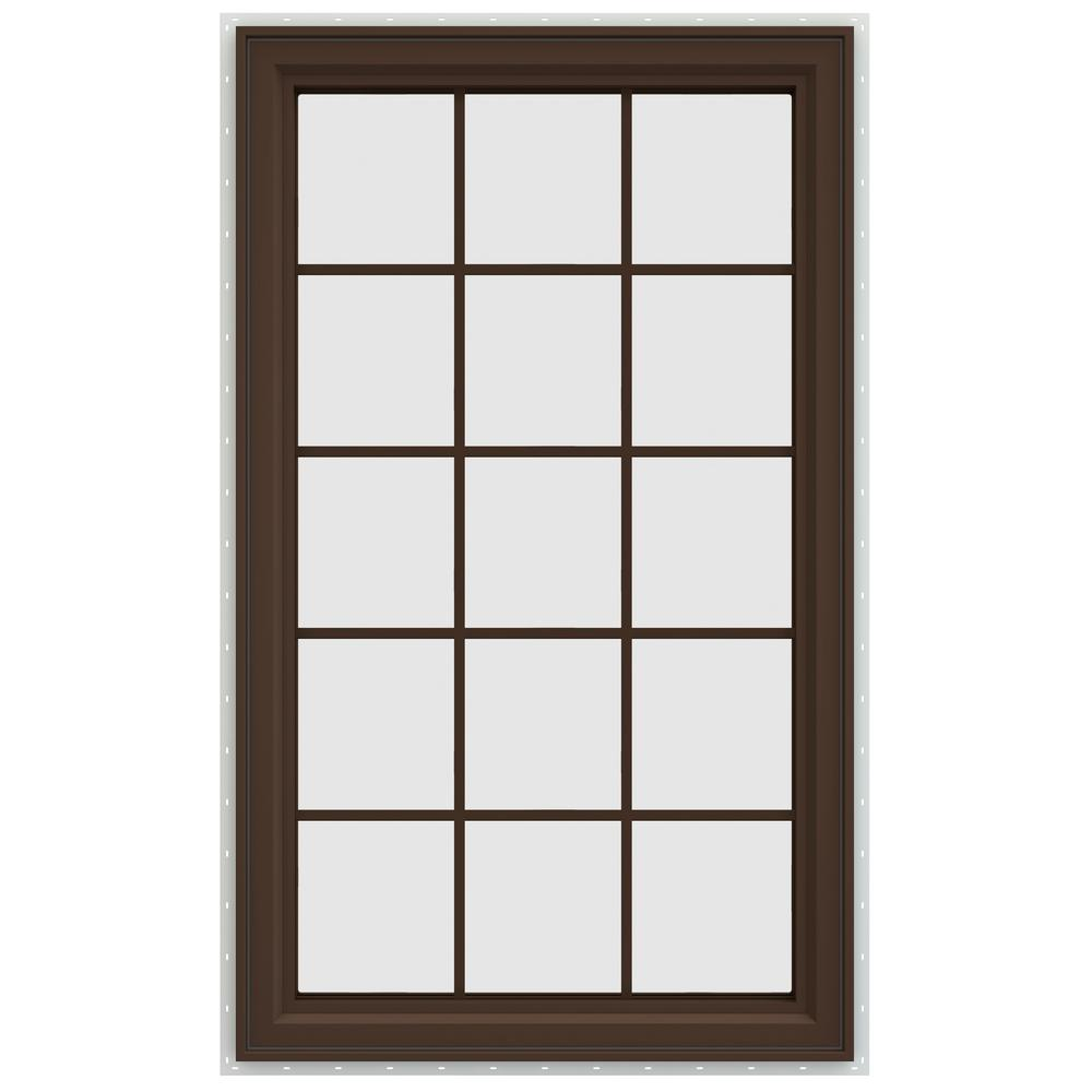 Jeld wen 35 5 in x 59 5 in v 4500 series left hand for Casement window reviews