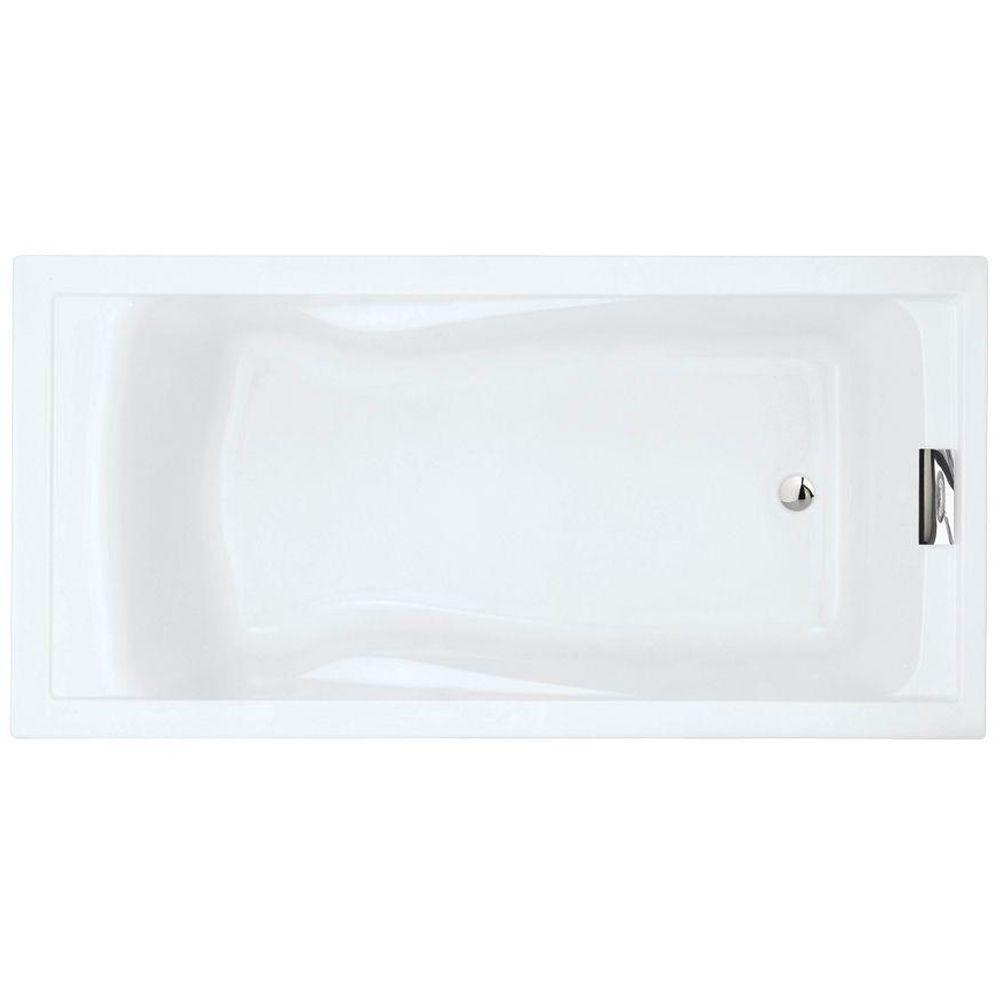 American Standard Evolution 6 Ft X 36 In Reversible Drain Deep Soaking Tub In Arctic 7236v002 011 The Home Depot
