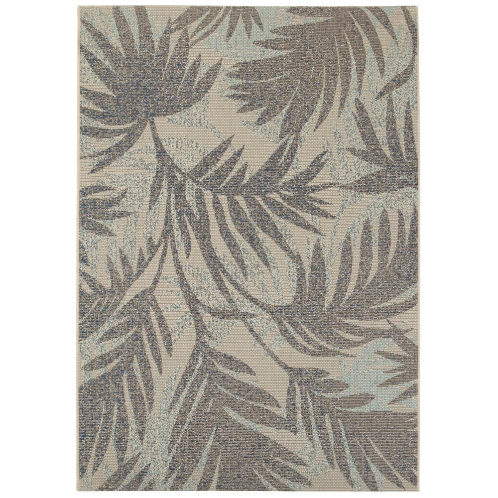 Home Decorators Collection Seafarer Teal 2 Ft. X 4 Ft. Indoor/Outdoor Area