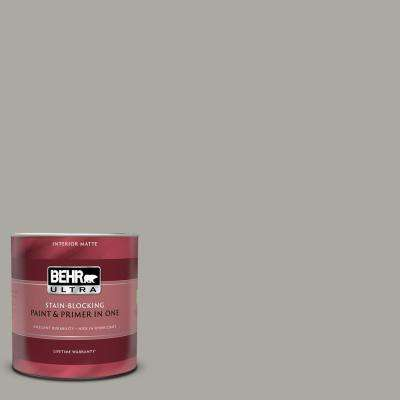 1 qt. #PPU24-10 Downtown Gray Matte Interior Paint and Primer in One