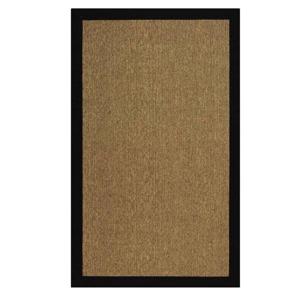 Home Decorators Collection Cove Black/Natural 4 ft. x 6 ft. Area Rug
