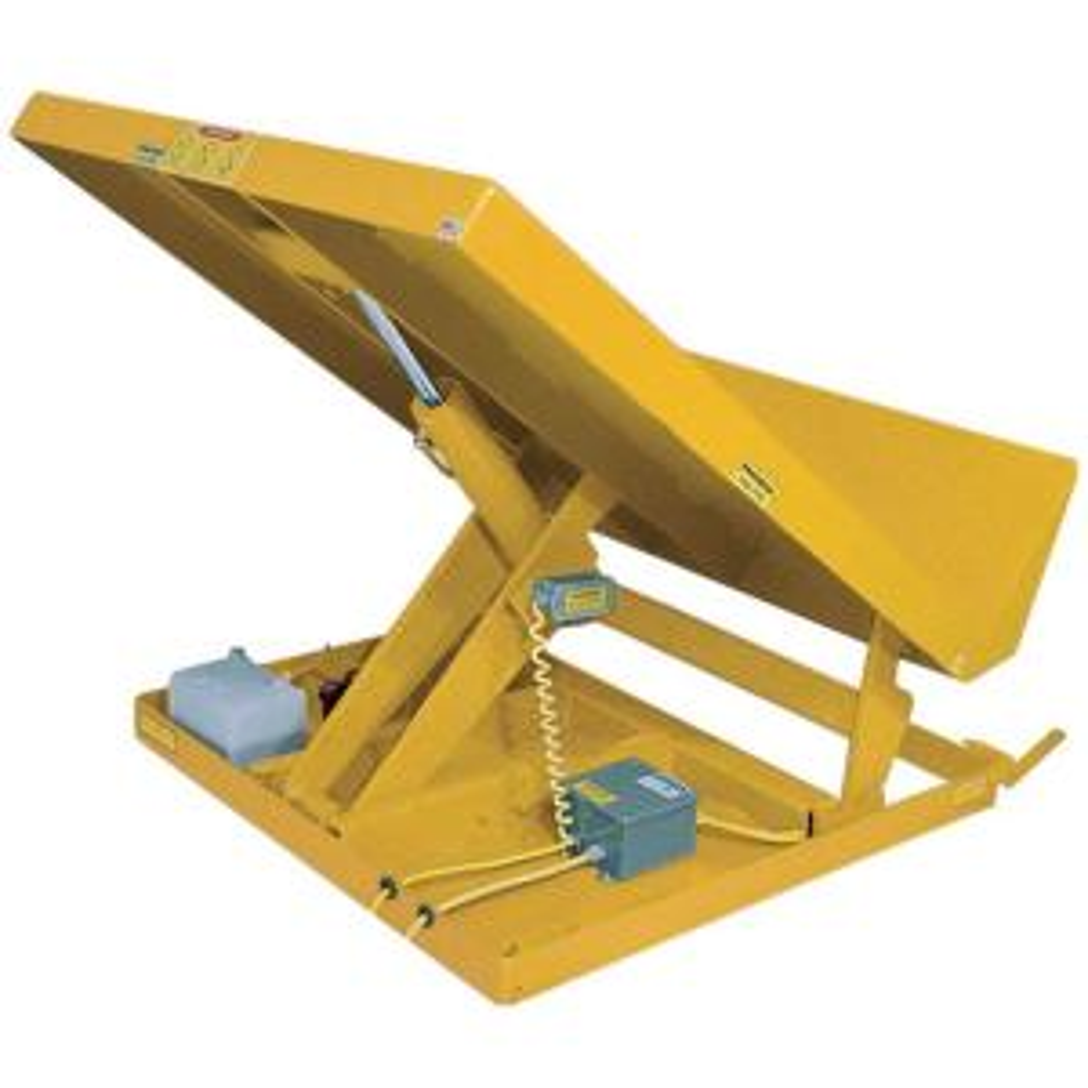 Vestil 2,000 lb. Capacity 48 inch x 48 inch 115-Volt 1 Phase Yellow Lift Table by Vestil