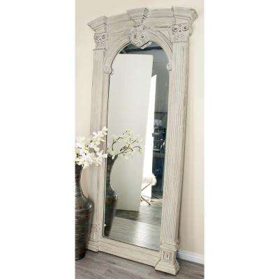 83 in. x 27 in. Arched Scrollwork Framed Wall Mirror