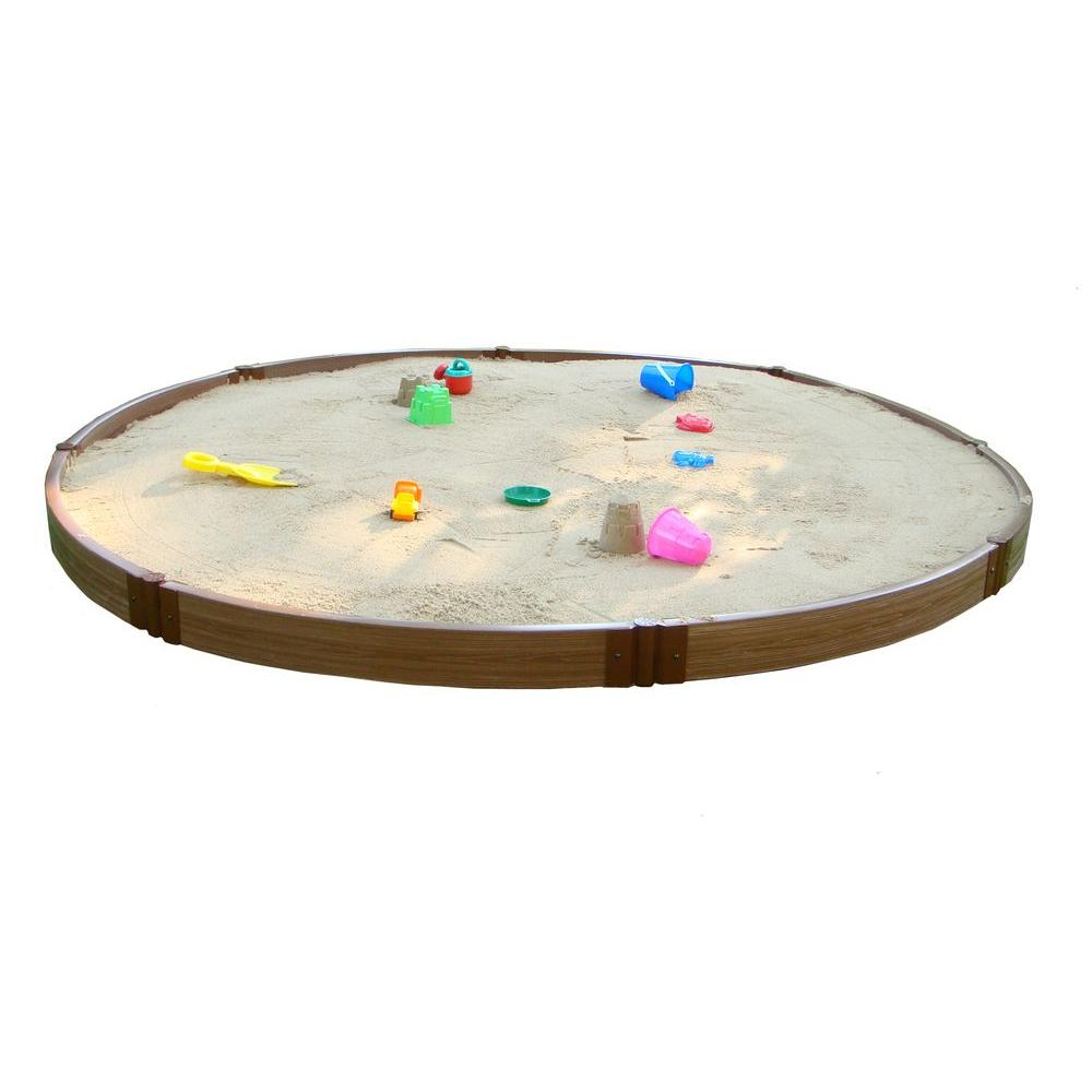 Frame It All 10 ft. x 10 ft. x 6 in. Circular Sandbox-DISCONTINUED