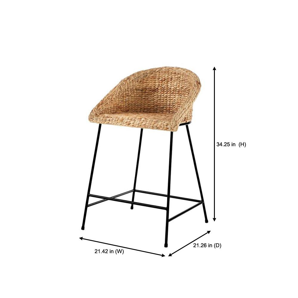 Magnificent Stylewell Stylewell Black Metal Counter Stool With Back And Machost Co Dining Chair Design Ideas Machostcouk