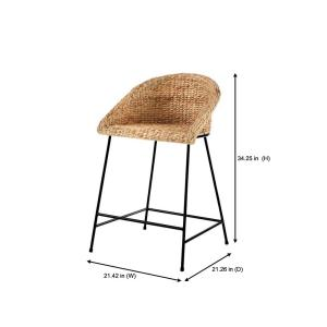 Tremendous Stylewell Stylewell Black Metal Counter Stool With Back And Machost Co Dining Chair Design Ideas Machostcouk