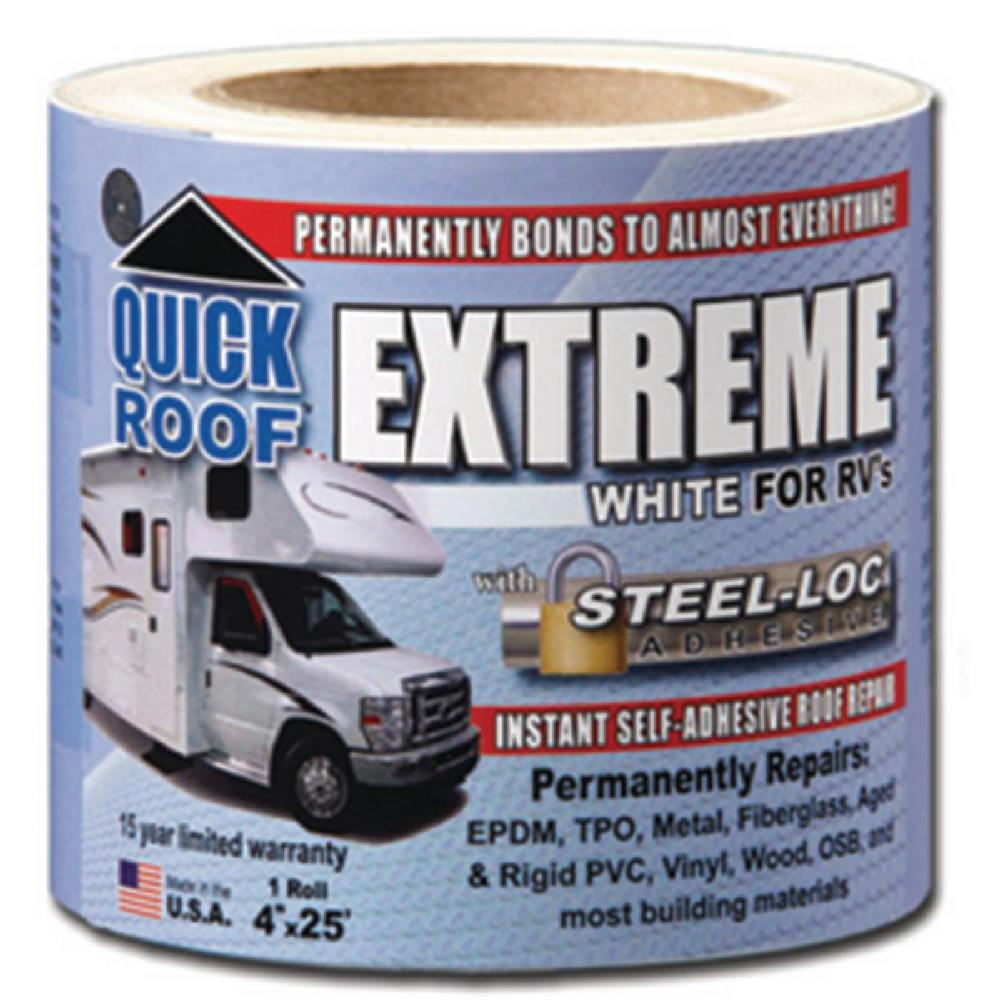 4 in. White Quick Roof Extreme Adhesive for RV