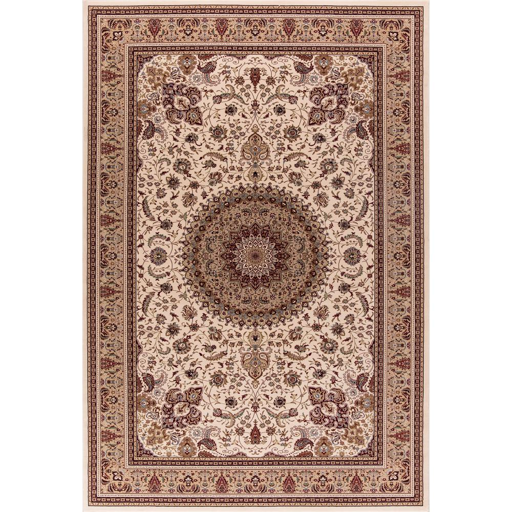 Williams Collection Tabriz Ivory Rectangle Indoor 8 ft. 9 in. x