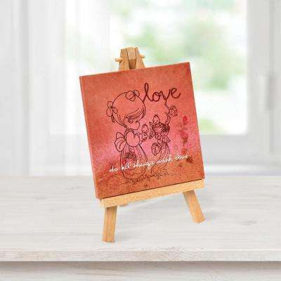 Tabletop Multi-Color Canvas Home Decor Love Picture with Easel