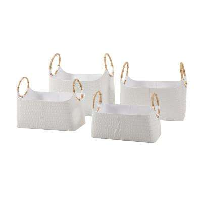 White Magazine Basket (Set of 4)