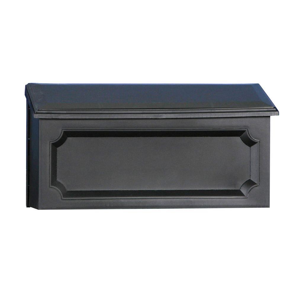 Windsor Plastic Black Wall-Mount Mailbox