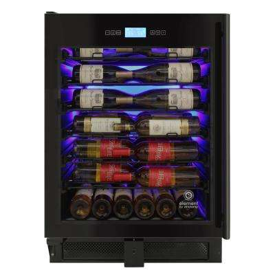 23.5 in. 41-Bottle Single-Zone Wine Cooler in Stainless