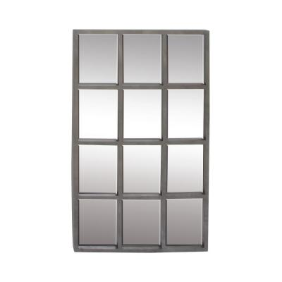 Large Rectangle Gray Contemporary Mirror (44 in. H x 27 in. W)