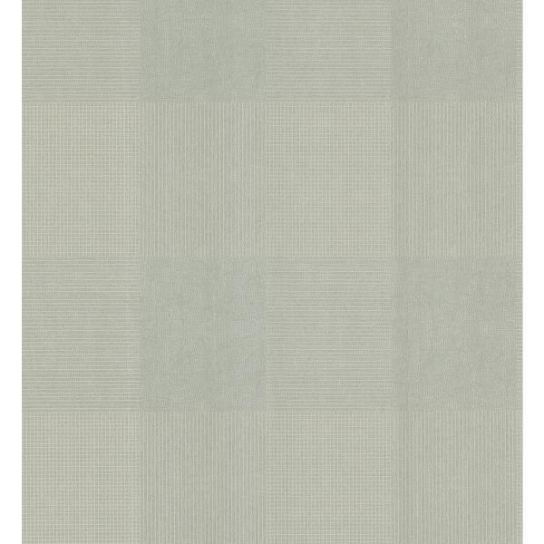 Brewster Simple Space Gray Geometric Plaid on Crackle Texture Wallpaper Sample