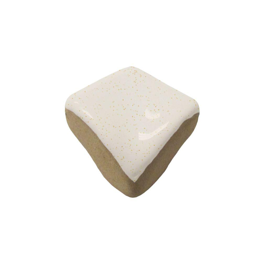 U.S. Ceramic Tile Color Collection Bright Gold Dust 3/4 in. x 3/4 in. Ceramic Quarter-Round Corner Wall Tile-DISCONTINUED