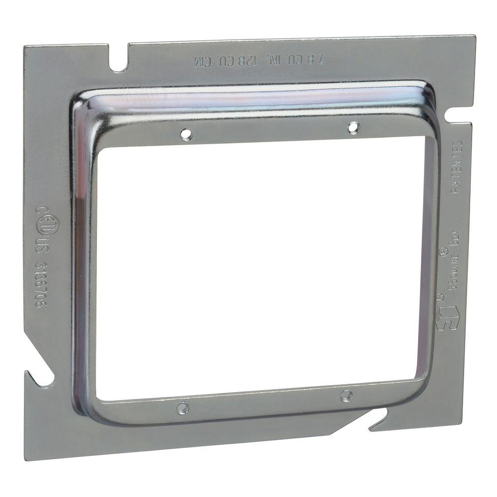2-Gang Steel Box Extension Ring 5/8 in. Raise (20 per Case)