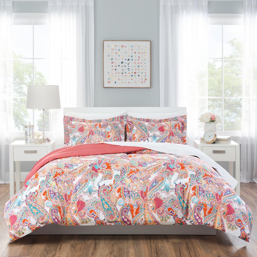 Nicole Miller Kids 7-Piece Queen Multi Paisley Comforter Set
