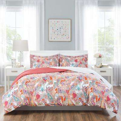 Nicole Miller Kids 7-Piece Queen Multi Paisley Comforter Set