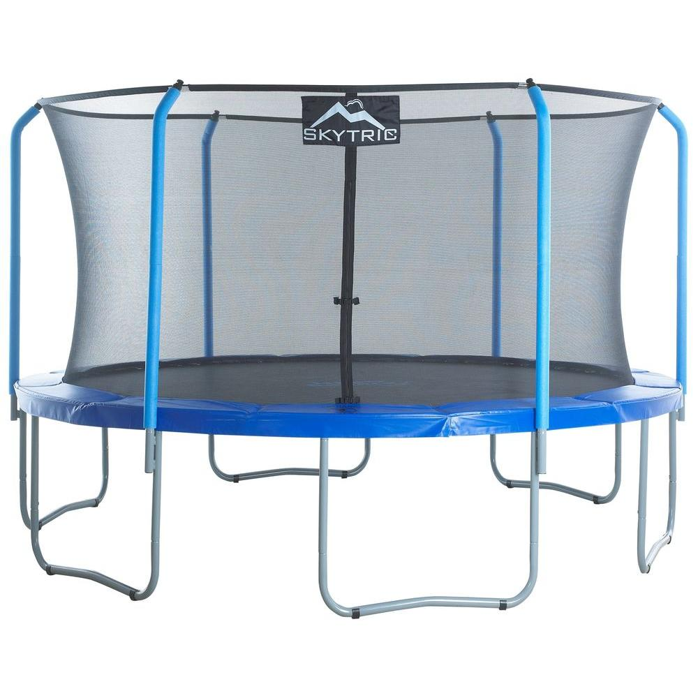 Jumpsport Trampoline Parts: SKYTRIC 15 Ft. Trampoline With Top Ring Enclosure System