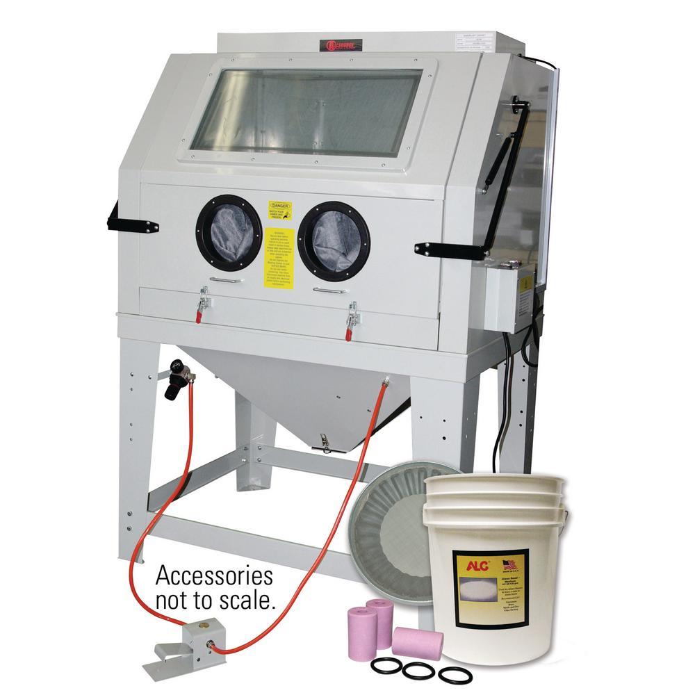 Industrial Abrasive Blast Cabinet with Starter Kit