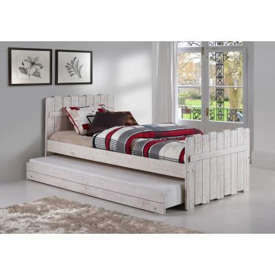 Rustic Sand Twin Tree House Bed with Trundle