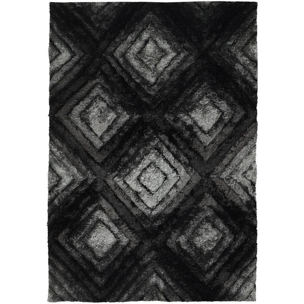 Chandra Flemish Grey/Black/Charcoal 5 ft. x 7 ft. 6 in. Indoor Area Rug