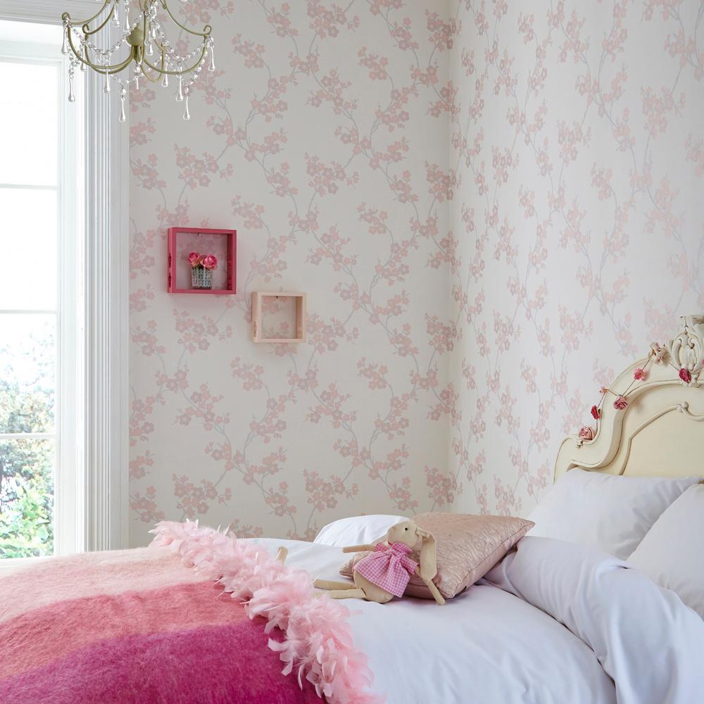Soft Pink Cherry Blossom Wallpaper