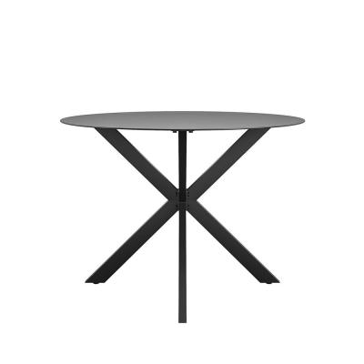 CosmoLiving by Cosmopolitan Circi Metal Outdoor Dining Table with Glass Top