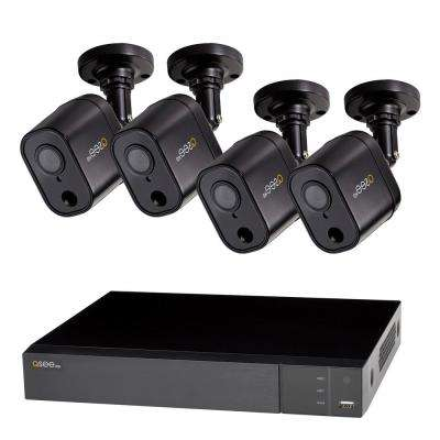 8-Channel 1080p 1TB Video Surveillance DVR System with 4 PIR Bullet Cameras