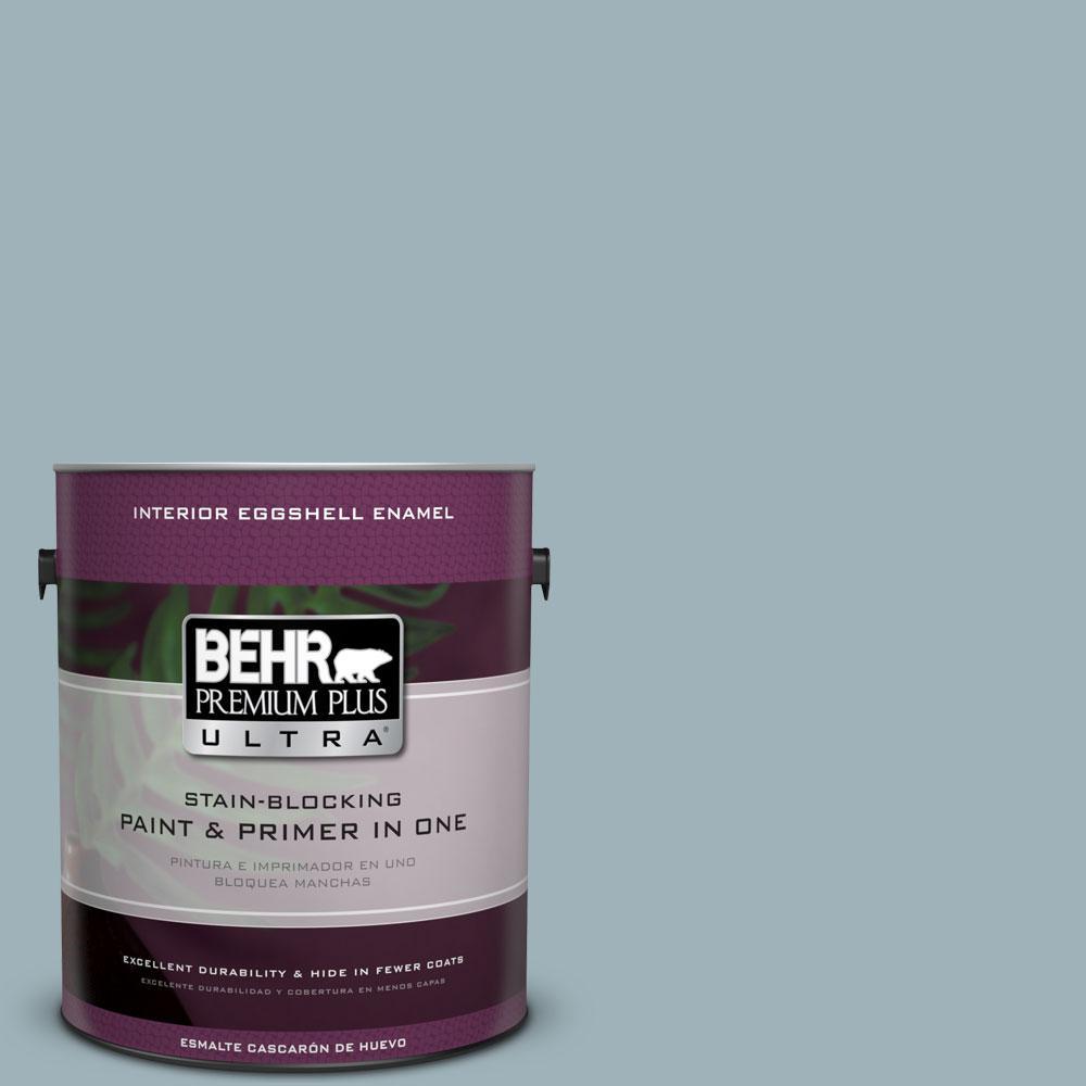 BEHR Premium Plus Ultra 1-gal. #540E-3 Blue Fox Eggshell Enamel Interior Paint