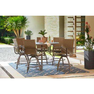 round patio dining sets patio dining furniture the home depot rh homedepot com